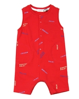 Miles Baby Boys One-piece Playsuit with Long Placket