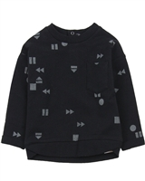 Miles Baby Boys Sweatshirt in Geometrical Print