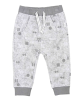 Miles Baby Boys Grey Printed Jogging Pants