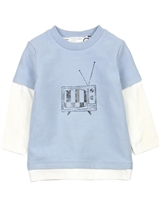 Miles Baby Boys Reversed Terry T-shirt in Layered Look