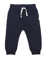 Miles Baby Boys Basic Navy Jogging Pants
