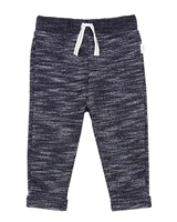 Miles Baby Boys Reversed Knit Pants