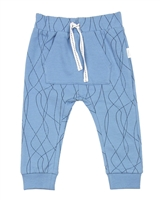 Miles Baby Boys Jogging Pants in Abstract Print