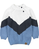 Miles Baby Boys Striped Chunky Knit Pullover