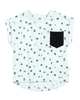 Miles Baby Boys Printed T-shirt with Chest Pocket