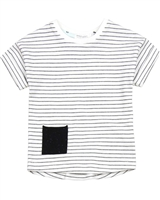 Miles Baby Boys Striped T-shirt with Pocket