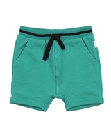 Miles Baby Boys Green Terry Shorts