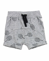 Miles Baby Boys Terry Shorts in Racquet Print