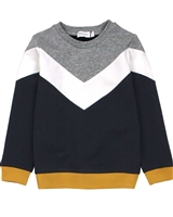 Miles Baby Boys Sweatshirt with Diagonal Stripe