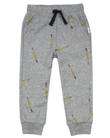Miles Baby Boys Sweatpants in Crayons Print
