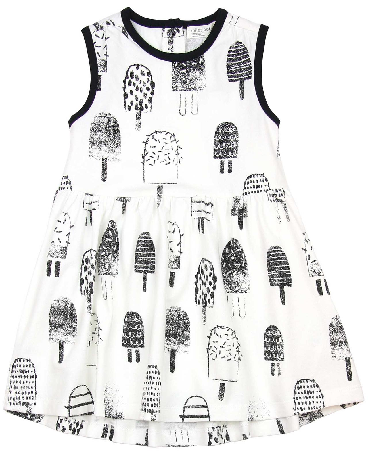 Miles Baby Girls Ice cream Print Dress Miles Baby Spring Summer