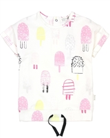 Miles Baby Girls Ice-cream Print Top