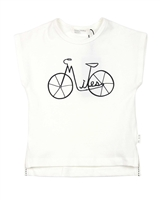 Miles Baby Girls Top with Bicycle Print