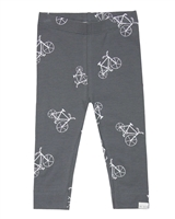 Miles Baby Girls Leggings in Bicycle Print