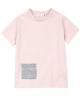 Miles Baby Girls Pink T-shirt with Pocket