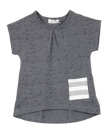 Miles Baby Girls Terry Top with Pocket