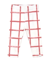 Miles Baby Girls Distressed Check Leggings