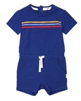 Miles Baby Girls Romper with Stripes