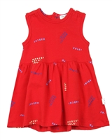 Miles Baby Girls Printed Terry Dress