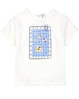 Miles Baby Girls Top with Swimming Pool Print