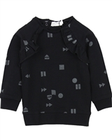 Miles Baby Girls Printed Sweatshirt with Ruffles