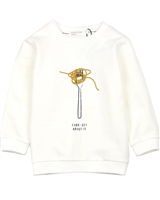 Miles Baby Girls Sweatshirt with Pasta Graphic