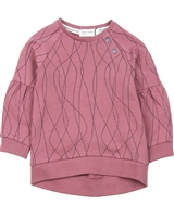 Miles Baby Girls Sweatshirt with Puffed Sleeves