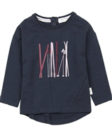 Miles Baby Girls Tunic with Ski Graphic
