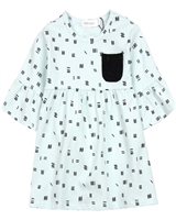 Miles Baby Girls Jersey Dress with Bell Sleeves
