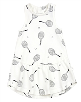Miles Baby Girls Tank Dress in Racquet Print