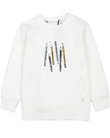 Miles Baby Girls Sweatshirt with Crayons Print