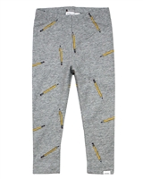 Miles Baby Girls Leggings in Crayons Print