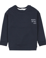 Miles Baby Girls Sweatshirt with Banded Bottom