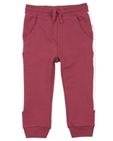 Miles Baby Girls Sweatpants with Side Stripes