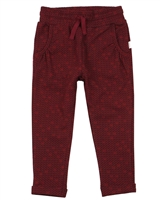 Miles Baby Girls Sweatpants in Hearts Print