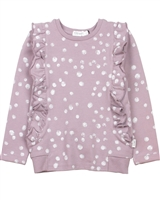 Miles Baby Girls Terry Top in Snowballs Print
