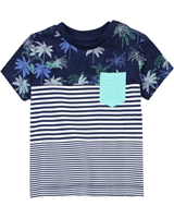 Mayoral Baby Boy's Stripe and Palm Print T-shirt
