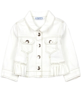 Mayoral Baby Girl's Twill Jacket with Ruffle