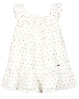 Mayoral Baby Girl's Eyelet Dress with Glittery Dots