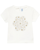 Mayoral Baby Girl's T-shirt with Gold Print Flower