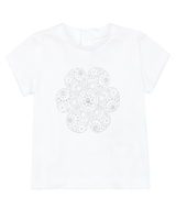 Mayoral Baby Girl's T-shirt with Silver Print Flower