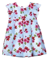 Mayoral Baby Girl's Pleated Dress in Floral Print