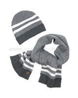 Mayoral Boy's Hat and Scarf Gray