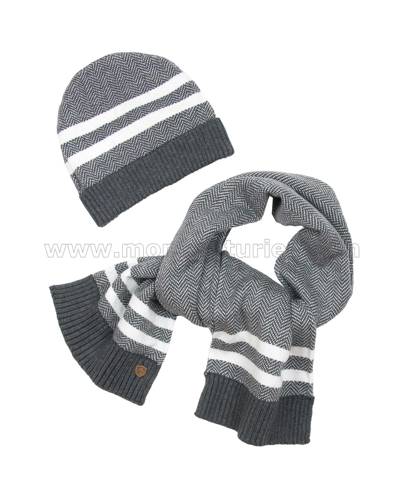 Mayoral Junior Boys Hat and Scarf Set Black Sizes 8-16