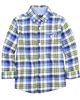Mayoral Boy's Plaid Shirt Blue