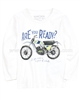 Mayoral Boy's T-shirt with Motorcycle Print White