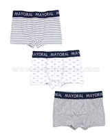 Mayoral Boy's 3-piece Boxers Set Gray