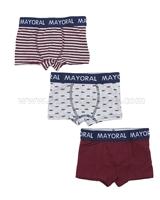 Mayoral Boy's 3-piece Boxers Set Red