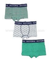 Mayoral Boy's 3-piece Boxers Set Green
