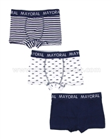 Mayoral Boy's 3-piece Boxers Set Navy